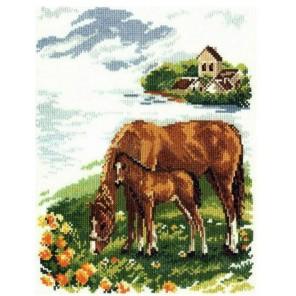 Лошадки Набор для вышивания Алиса