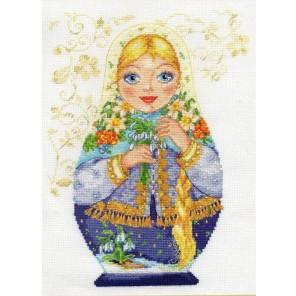 Матрешки. Весна-красна Набор для вышивания Алиса