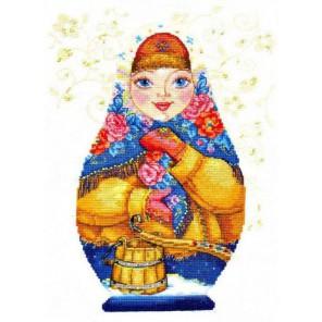 Матрешки. Зимняя краса Набор для вышивания Алиса