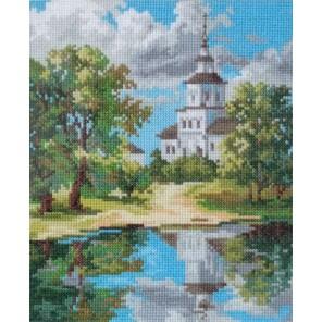 Храм у пруда Набор для вышивания Алиса