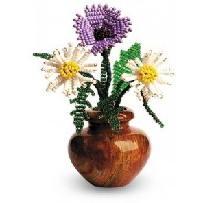 Цветы Русское поле Набор для бисероплетения Кроше
