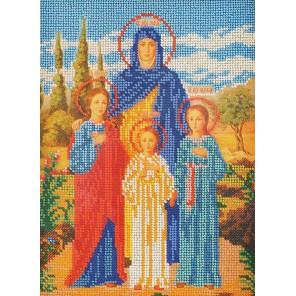 Святые Вера, Надежда, Любовь и Софья Набор для вышивки бисером Кроше