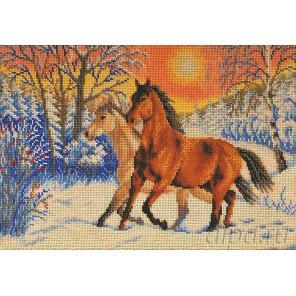 Первый снег Набор для вышивки бисером Кроше