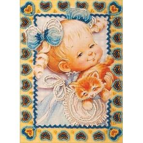 Милый котенок Набор для вышивки бисером Кроше