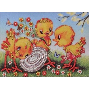 Веселая семейка Набор для вышивки бисером Кроше