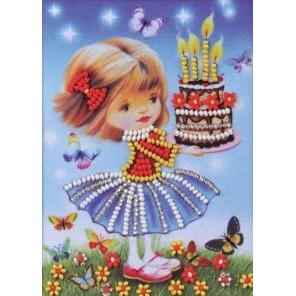 Праздничный торт Набор для вышивки бисером Кроше