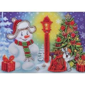 Снеговик Набор для вышивки бисером Кроше