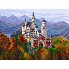 Замок в Баварии Ткань с рисунком Матренин посад