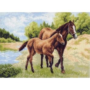 Лошади Ткань с рисунком Матренин посад