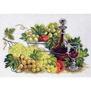 Натюрморт с виноградом Ткань с рисунком Матренин посад