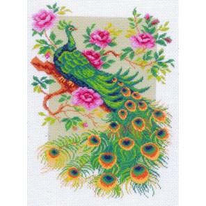 Павлин Ткань с рисунком Матренин посад