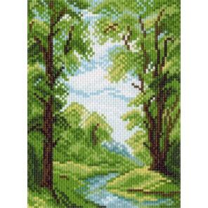 Лесной ручей Ткань с рисунком Матренин посад