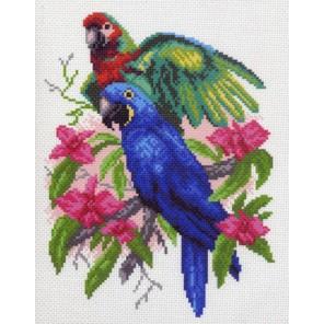 Попугайчики Ткань с рисунком Матренин посад