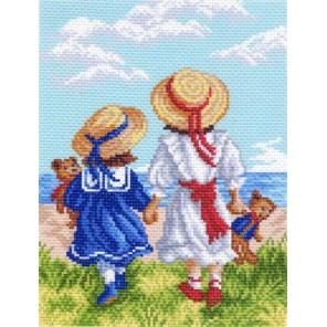 Две подружки Ткань с рисунком Матренин посад