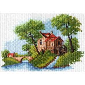 Голландский пейзаж Ткань с рисунком Матренин посад