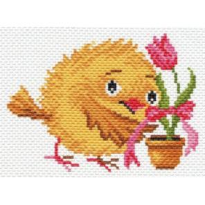 Цыпленок с тюльпаном Ткань с рисунком Матренин посад