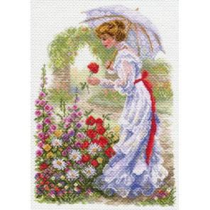 В цветущем саду Ткань с рисунком Матренин посад