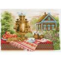 Натюрморт деревенский Канва с рисунком для вышивки Матренин посад