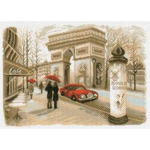 Париж Ткань с рисунком Матренин посад