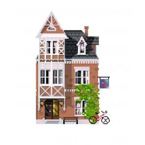 Амстердам Ткань с рисунком Матренин посад