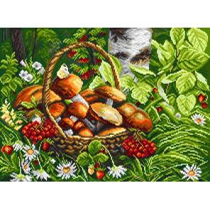 Первые грибы Ткань с рисунком Матренин посад