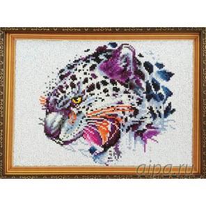 Леопард Алмазная мозаика на подрамнике Цветной
