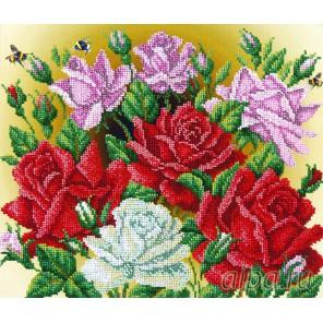 Аромат роз Набор для частичной вышивки бисером Русская искусница