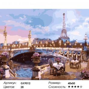 Вечер в Париже Раскраска картина по номерам акриловыми красками на холсте