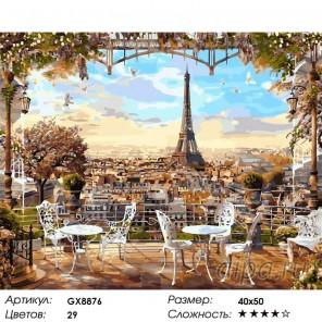 Парижская терасса Раскраска картина по номерам акриловыми красками на холсте