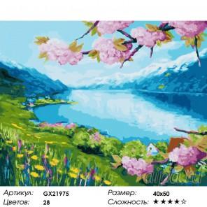 Количество цветов и сложность Чудесная весна Раскраска картина по номерам акриловыми красками на холсте