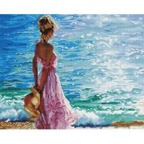 На берегу моря Алмазная мозаика вышивка на подрамнике Painting Diamond