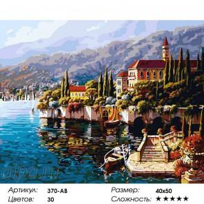 Количество цветов и сложность Варенна. Италия Раскраска ( картина ) по номерам на холсте Белоснежка