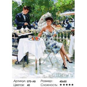 На летней веранде Раскраска ( картина ) по номерам акриловыми красками на холсте Белоснежка