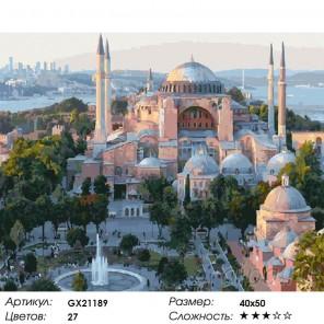 Количество цветов и сложность Мечеть Коджатепе Раскраска картина по номерам на холсте