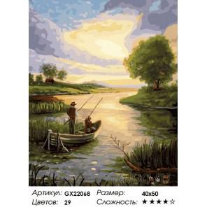 Количество цветов и сложность Рыбаки Раскраска картина по номерам на холсте