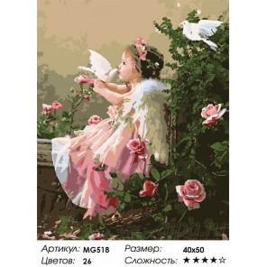 Поцелуй ангела Раскраска по номерам на холсте Menglei