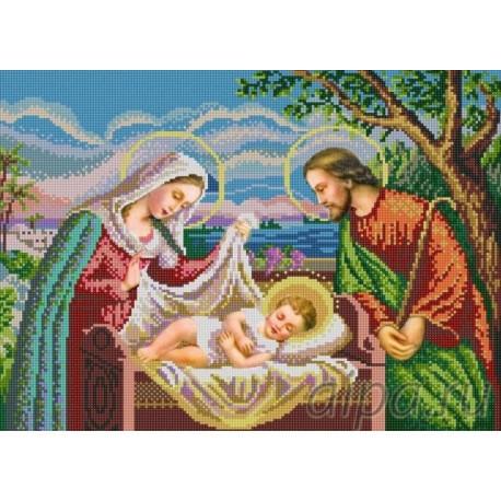 Святое семейство Канва с рисунком для вышивки бисером Конек