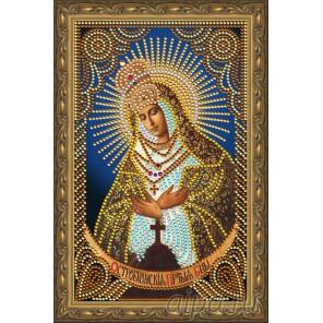 В рамке Остробрамская Пресвятая Богородица Алмазная частичная мозаика на подрамнике Color Kit