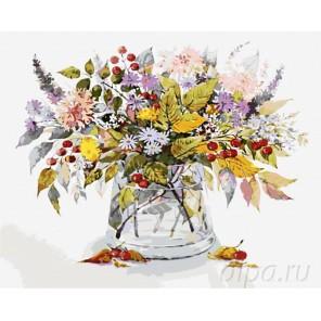 Осенний букет Раскраска картина по номерам на холсте Menglei