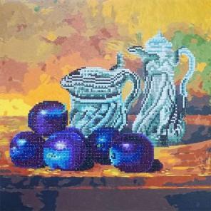 Натюрморт со сливами Алмазная картина-раскраска Color Kit
