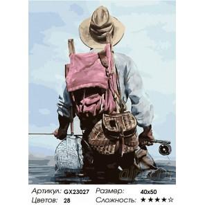 Количество цветов и сложность Рыбак Раскраска картина по номерам на холсте