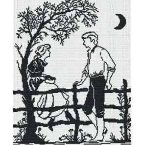 Свидание (черное на белом) Набор для вышивания МП Студия