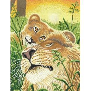 Лев и львёнок Набор для вышивания МП Студия