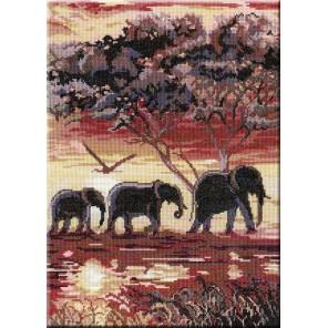 Триптих Слоны 2 часть Набор для вышивания МП Студия