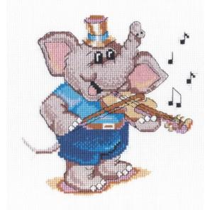 Слоник - скрипач Набор для вышивания МП Студия