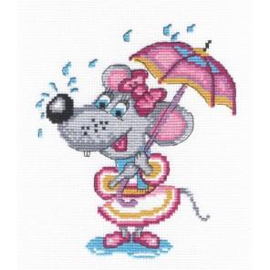 Мышка с зонтиком Набор для вышивания МП Студия