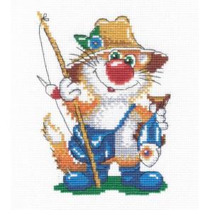 Кот рыбак Набор для вышивания МП Студия
