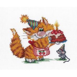 Рыжий кот. День рождения Набор для вышивания МП Студия