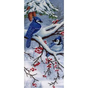 Зима диз.канва+мулине Набор для вышивания МП Студия