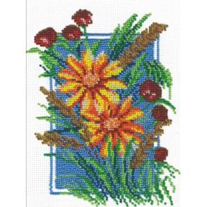Ромашки и маки Набор для вышивания бисером МП Студия